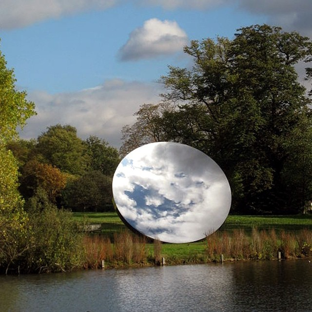 """Sky Mirror"" by sculptor Anish Kapoor #inspiration #allswell"