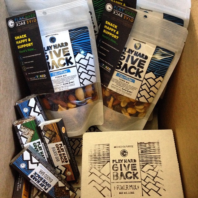 Pretty awesome box of goodies from @playhardgiveback! Thank you for your continual support!