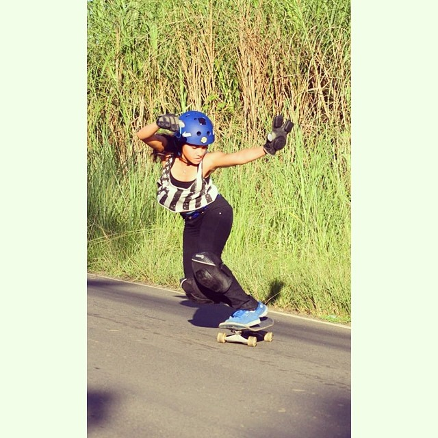 Grace Vargas killing it! Backside check #panamacity @gracevargas25