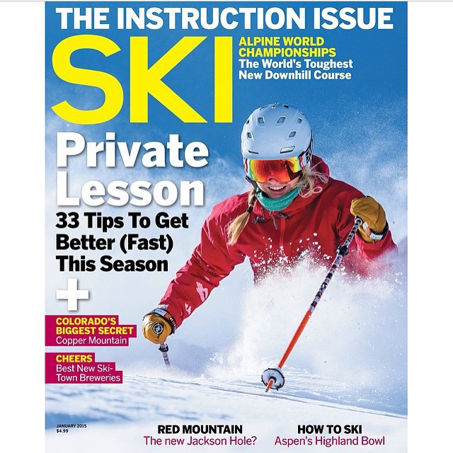 Check out Flylow's @aengerbretson on the cover of this month's @skimagazine.