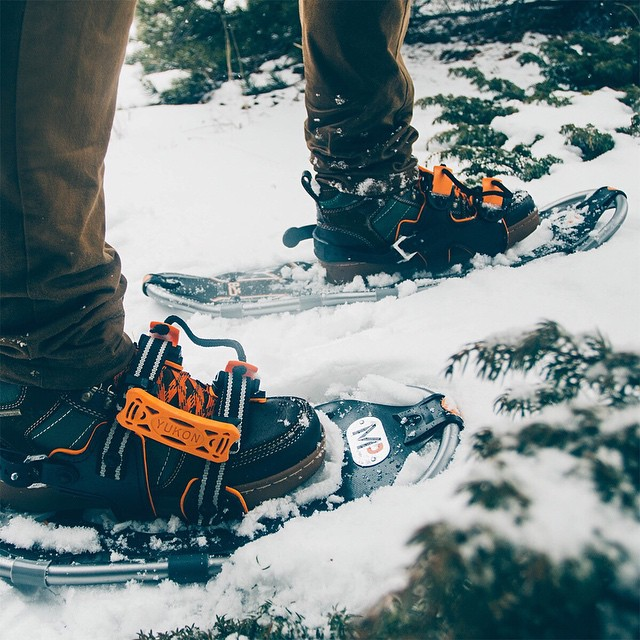 @demars_ crusing over some fresh stuff with the help of his Hikers and Yukon Charlies. Great match! #getoutthere #adventureworthy