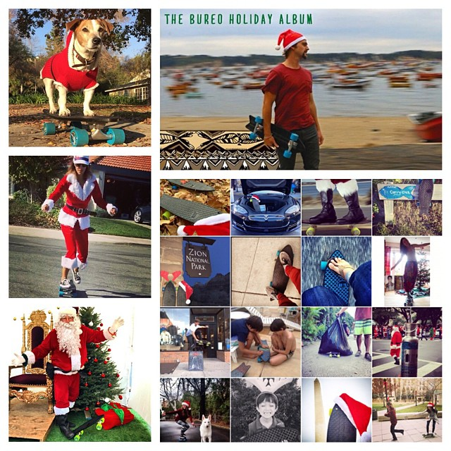 Stoked on all the ripping jolly moments making it in our Bureo Holiday Album! Share your Bureo holiday photos making sure to tag #netstogifts and @bureoskateboards..and be entered in to win a custom painted board. Winner picked Jan 2nd! #Jollydaze