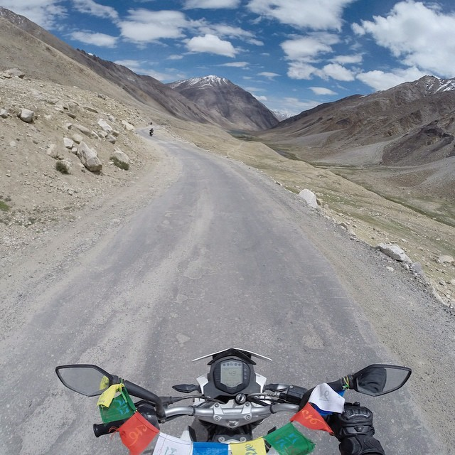 Photo of the Day! Moto ride through the Himalayas with @chintuuuu.