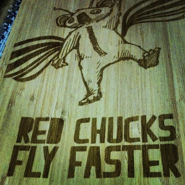 Red chucks fly faster custom topsheet... #kylie