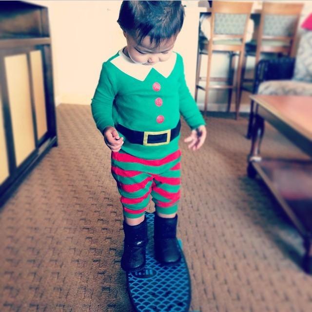 Test riding in the elf workshop with @dgrace213. #netstogifts #jollydaze #joytotheweird