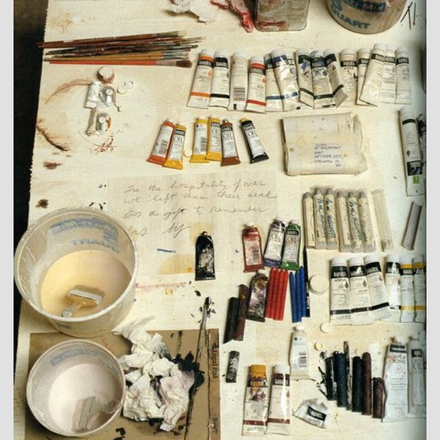 Cy Twombly's desk #readyset #create  #allswell