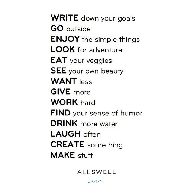 Morning manifesto #allswell