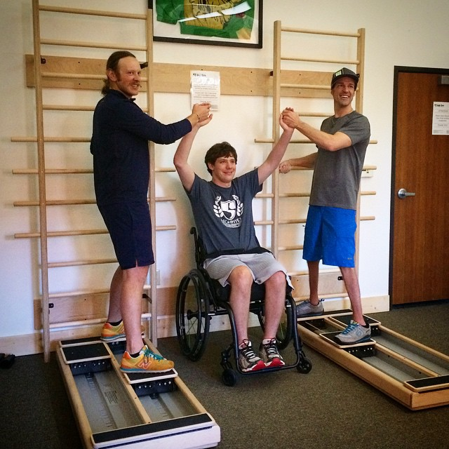Inspired by the strength and stoke of #SCI Champions @PhilHoban & @J.Andrews83!!! The @hi5sfoundation empowers athletes recovering from life altering injuries to live their dreams, and that magic often happens on @balanced_body #pilates equipment at...
