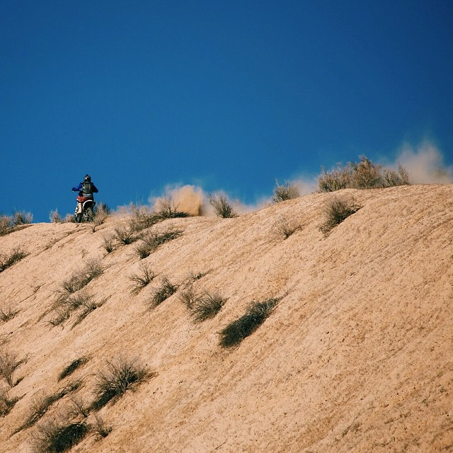 The desert mountains offer lots of high consequence/high exposure ridge line trails. In many places, one wrong move could send you and your bike tumbling over a thousand feet.