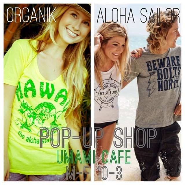 Visit our #organik pop up shop at Harbor Ct downtown #honolulu #eco friendly #sustainable #fashion #clothing #madeinamerica #supportlocal #holidayshopping