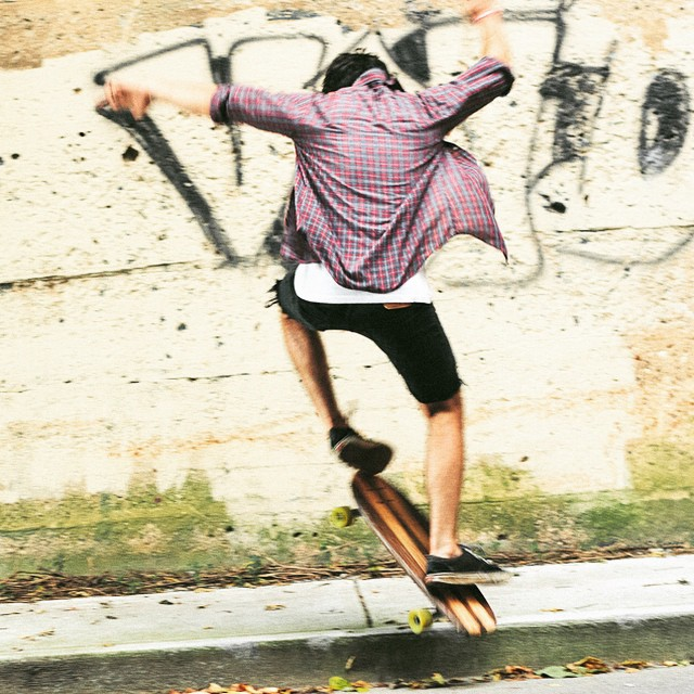 "@juliandente just finished an EP. It falls into the musical genre of ""Epic."" Also, he can tre flip an oak cruiser. Renaissance Man. Photo Cred: @tomoakerson #cruiserboard #cruiser #YØUTH #skate #skateboard"