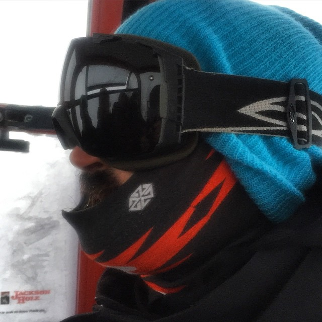 It's a bit chilly here in @jacksonhole- -11f this morning made for creaky snow and mandatory face protection.  We did a couple sweet custom Tshield designs for the @jhparkandpipe- those dudes work hard and need to make sure they don't freeze their...