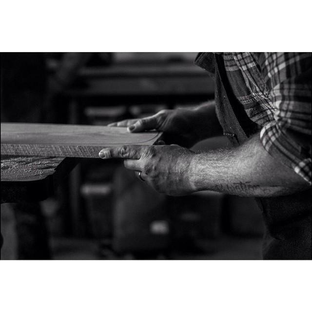 Working to build up that stock after the holidays. Photo cred: @michaelthinks #handmade #handmadeskateboard #skate #skateboard