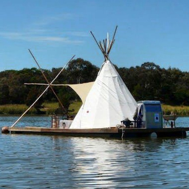 Yes, that is a floating teepee #allswell