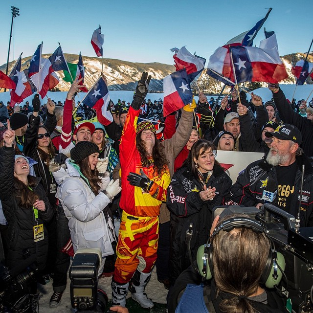 Our No. 1 Moment of 2014 – @colt45moore honored his late brother, Caleb, by winning Snowmobile Freestyle gold at #XGames Aspen.  Click the link on our profile page to relive the powerful moment.