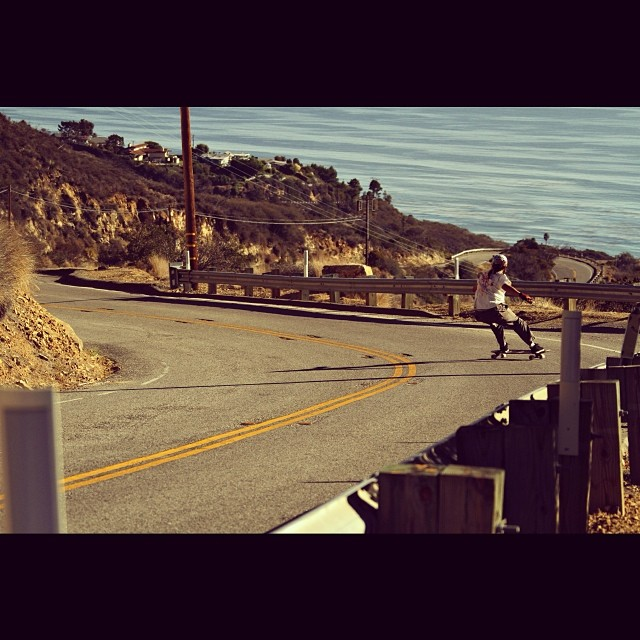 @bigdave_hsf surfing Malibu canyon waves hours before knee surgery... Photo: Dustin Hampton