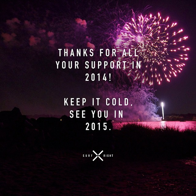 A big thank you to all of you, looking forward to a cold 2015 ;) #coldwatersurf #keepitcold #2015