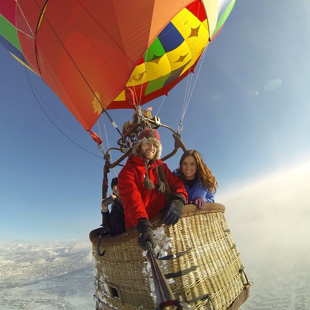 Photo of the Day! Bluebird day for a hot air balloon ride over Steamboat Springs, Colorado. Photo by @kenzicrew. Happy 2015, GoPro people!