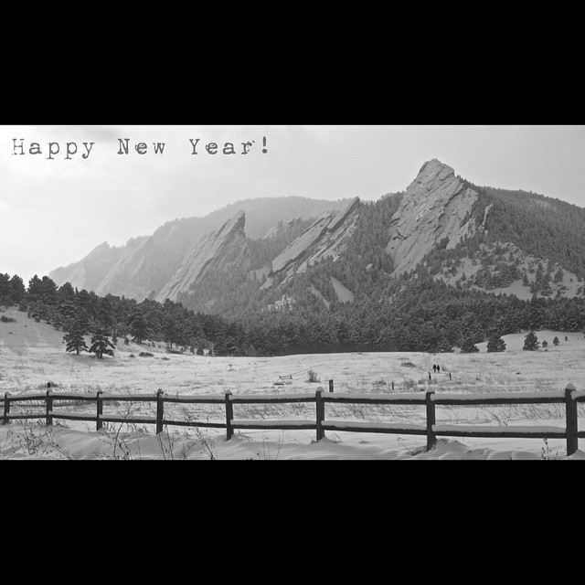 "Thank you all for a great year!  Looking forward to all the wonderful adventures of 2015.  Please use ""happynewyear"" for 20% off everything at www.kinddesign.co --- #kinddesign #happynewyear #2015 #flatirons #boulder #colorado #liveyourdream"