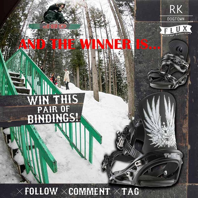 Happy New Year everyone! Congratulations to @thomas_westcott Tyler Lynch @sababa_life has selected you as the winner of the RK Dogtown Bindings from the new Heritage Collection! To claim your prize, hit us up at info@flux-bindings.com.  If you didn't...