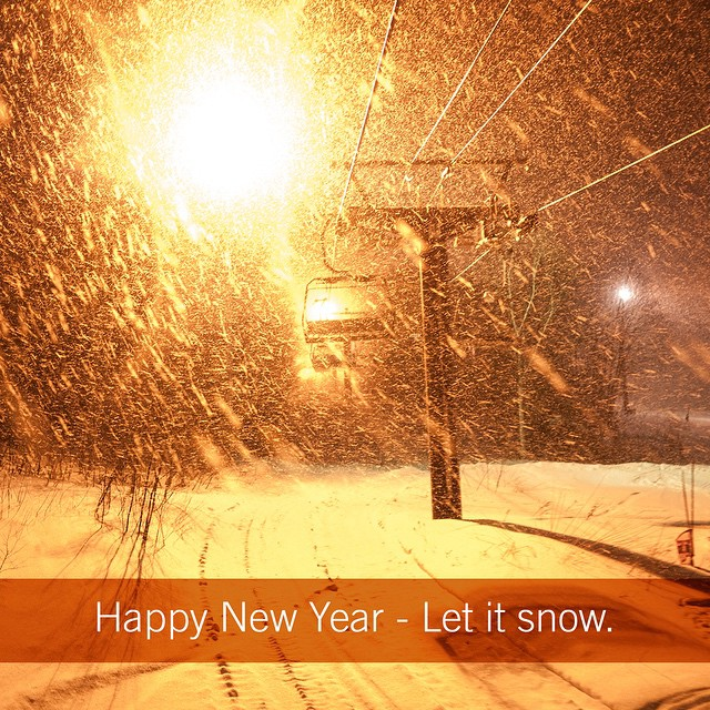 The ball has dropped and hopefully snow has too wherever you may be seeking #fineliving. Happy New Year!