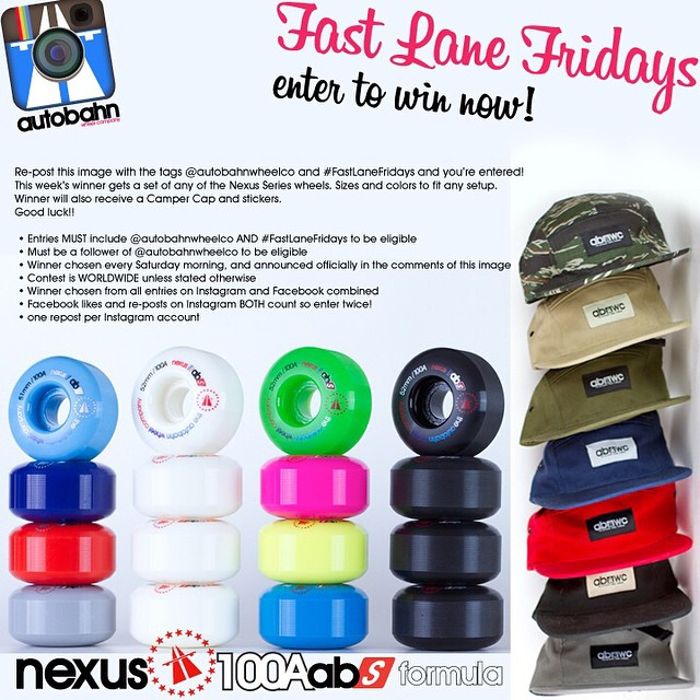 Re-post this image with the tags @autobahnwheelco and #FastLaneFridays and you're entered! This week's winner gets a set of any of the Nexus Series wheels. Sizes and colors to fit any setup. Winner will also receive a Camper Cap and stickers. Good...