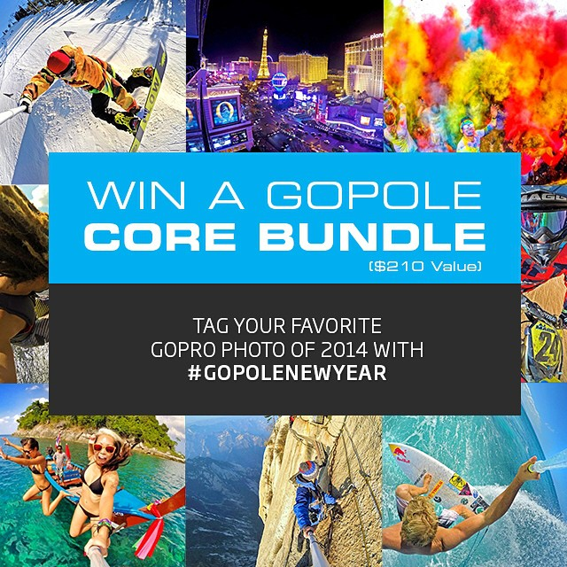 Happy New Year! We're kicking off 2015 with a giveaway. Tag your favorite GoPro photo from 2014 with #gopolenewyear to enter. Rules: Photo must be your own, tagging a previously posted photo is OK. #gopole