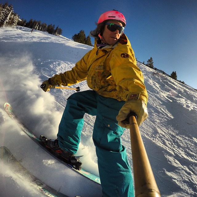 When conditions get firm, switch riding is where TanSnowMan finds his happy place... #TribeUP switch!  #PandaPoles #Panda_Cam #SkiTheRock
