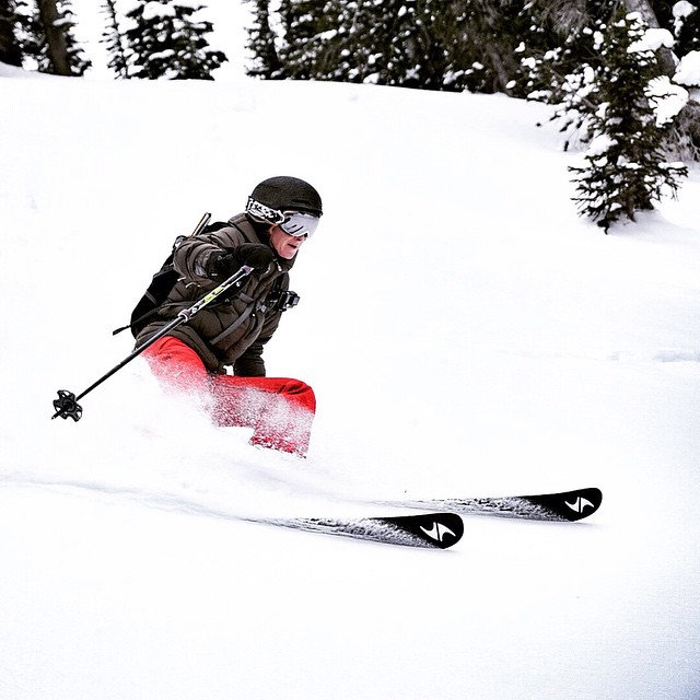 Our friend Molly taking #CapturePOV for a spin up in #JacksonHole. It's been a powdery new year so far.