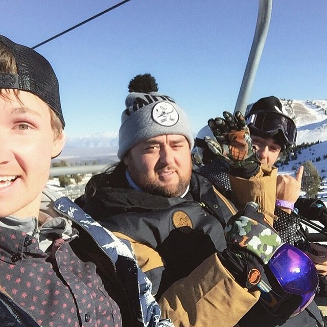Regram from @shanejoneill @chumlee & @chanceeldridge shredding @mammothmountain today #skatelife #vivalagrenade
