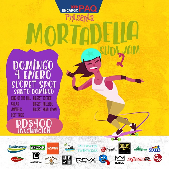 From Cali to DR we send big love and good vibes to all the Dominican shredders competing at the #MortadellaJam this sunday the 4th! #Holesom is a proud sponsor #keepitholesom