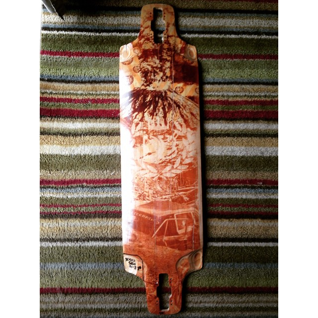 Throwback to the original Db Double D proto. This thing has been through a lot! What's your oldest/most thrashed board? And how long have you had it?  #dblongboards #dbdoubled #doubled #thrashed #shred #old #board #longboard #longboarding #prototype