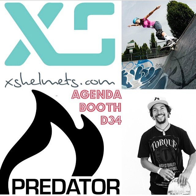 Predator Team rider @joshrodriguez91 and @xshelmets team rider @ameliabrodka will be joining us at @agendashow Long Beach January 5-6 2015! Come stop by, say hi and check out our 2015 products! #predatorhelmets #agendashowlongbeach #longbeach #new #2015