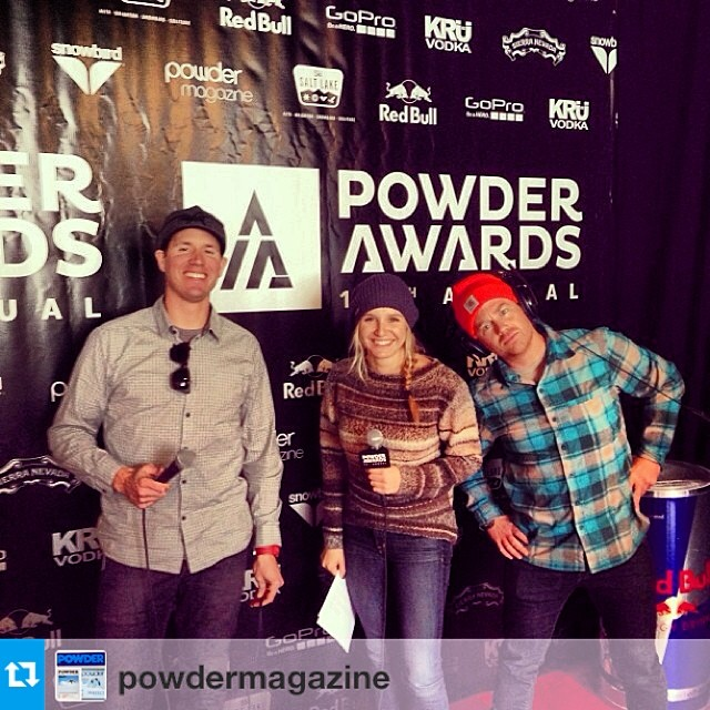 #Repost from @powdermagazine join us tonight at the powder awards in SLC or tune in at powderawards.com