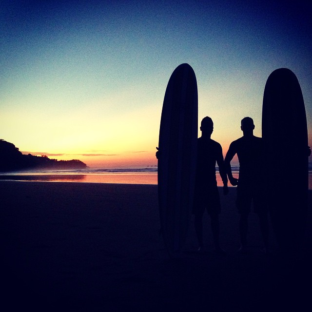 5am #SundaySunriseSurfSession - We have some very committed surfers staying with us