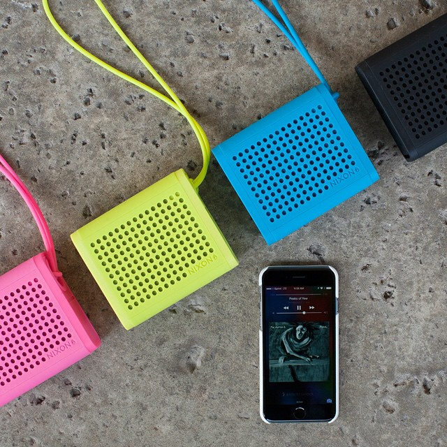 A small footprint ready to kick your ass.  The Mini Blaster durable portable speaker, now available from Nixon. #miniblaster #nixon