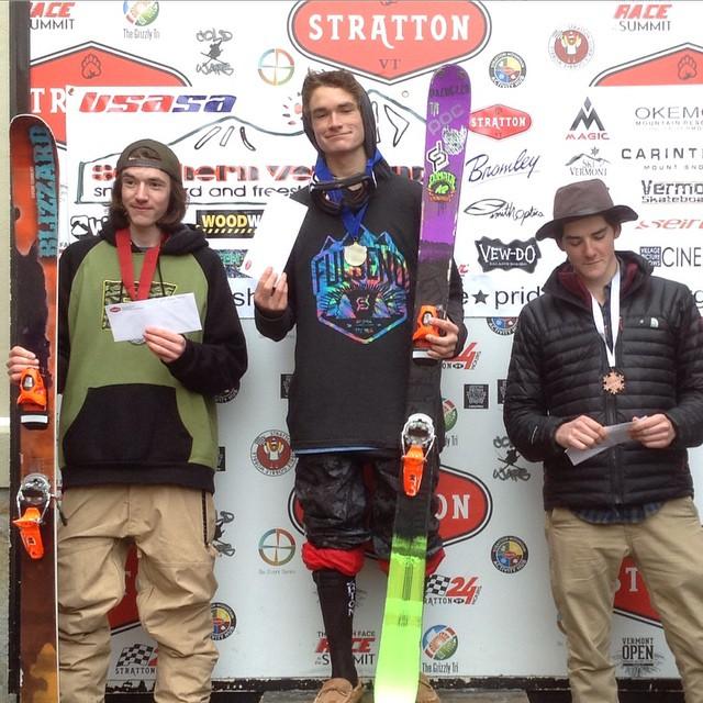 Another Fulsend podium! Congrats @connorjclayton #railjam #strattitude #justsendit #skiing #vermont #stratton #mountsnowacademy #sendit