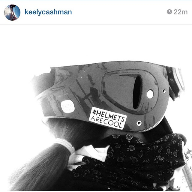 #Regram from one the fastest ski racers in the world, @keelycashman, showing off that #helmetsarecool