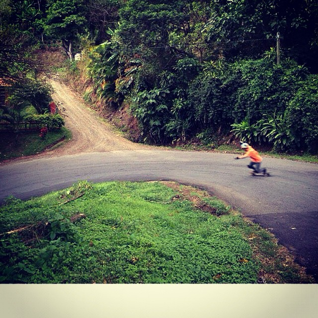 @ca_vargas4_20 out of Costa Rica hitting a hairpin on the Super Fatty!  #costarica #skateboarding #bonzing #superfatty #skateeverything