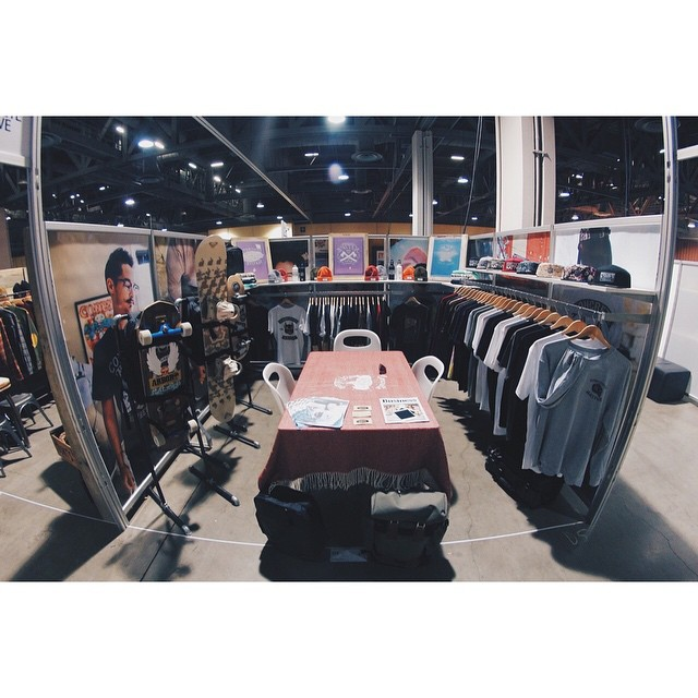 Here's a first look at our @agendashow Long Beach booth. Stop by D5 tomorrow and Tuesday to check it out! Also, if you look closely you can see a sneak peek of our new bag... #concretenative #realshitforrealpeople #agendashow #agenda #skatelife...