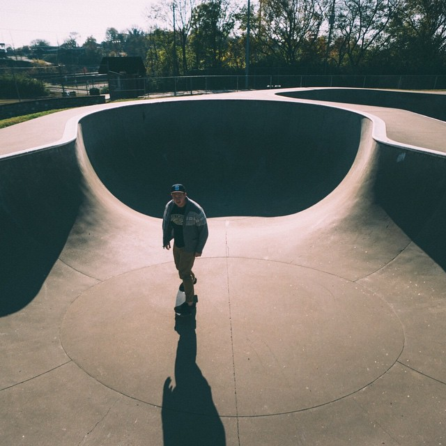Our New Years resolution is to skate more pools. Photo Cred: @_anchored #skate #skateboard #salemtownboardco