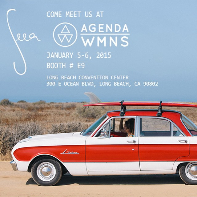 Happening now and tomorrow, Seea at #agendawmns #agendashow ! Come say hello and check out the limited edition summer collection!