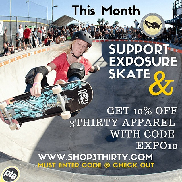 Get some sweet @shop3thirty #swag and support EXPOSURE! This month, your new clothes can help generate funds that will help an up and coming girl travel to be a part of #exposure2015!