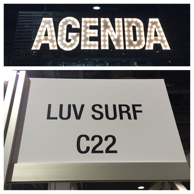 @luvsurfapparel is at @agendashow now! Booth C22 #agendashow #wearthecalidream