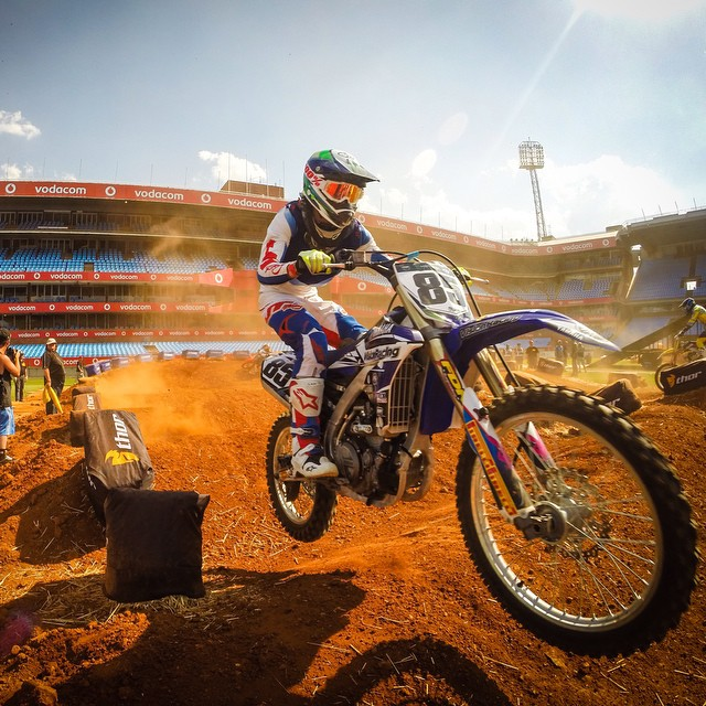 Photo of the Day! Africa gets it's first major Supercross event in Pretoria. Photo by @kyle_n_lord.