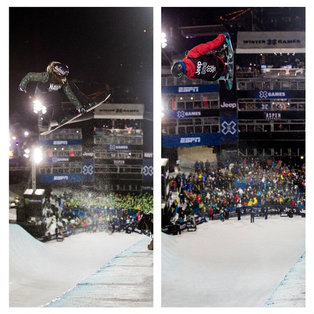The family that shreds together, stays together!  Siblings @arielletgold and @taylor_gold will compete at #XGames Aspen.