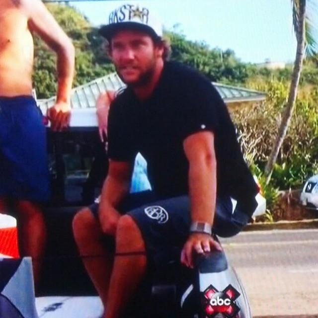 Granger and BBR Surfwear gets spotted on TV's World of X Games on ABC. Thanks @scottlewis113 for sending us the pic.  @grangerlarsen @bbrsurf #grangerlarsen #bbr #buccaneerboardriders #teamrider #abc #worldofxgames
