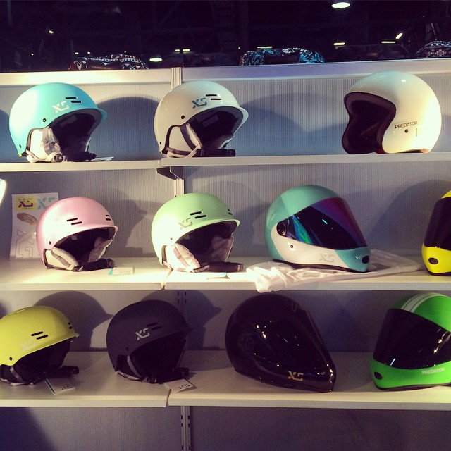 We've got you covered! #agendashow #mint #white #lilac #charcoal #xshelmets #forgirlswhoshred #skatebikeboardski