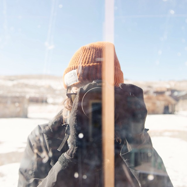 Here's @shoestringadventures keeping warm in our Park Watchers Cap, while exploring Bodie State Historic Park, a gold mining town from the 1800's. #radparks #parksproject