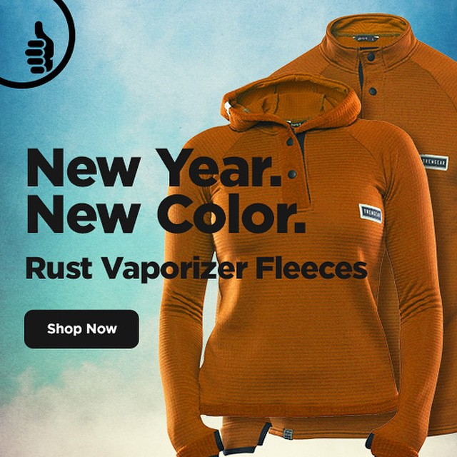 Don't let inferior fleece slow you down this winter. @polartecfabric PowerDry quickly moves moisture away from your body using small grids that enhance breathability. And for the new year, our Vaporizer Fleece is now available in Rust! #trewgear #trew...